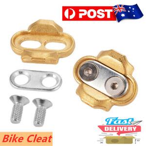 Bicycle Cleats Crank MTB Road Bike Cycling Pedal Metal Cleats Screws Bolt Set AU