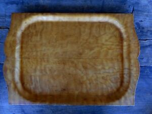 Vintage MCM Bentwood Tray S.E. Overton Co South Haven MI Brown Cabin Decor plywo