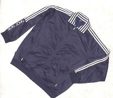 Men's Sean John Long Sleeve Zip Up Jacket Size XXXL 3XL navy blue white stripes