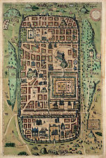 1584 Map of Jerusalem Israel Holy City Vintage History Wall Art Poster Print