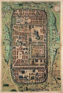 "1584 Map of Jerusalem Israel Holy City 11""x16"" History Wall Art Print Poster"