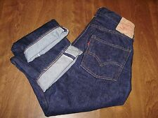 VINTAGE 1960's LEVIS BIG E SINGLE STITCH SELVEDGE BLUE JEANS maybe washed once?
