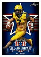 """WILL GRIER 2019 LEAF ALL-AMERICAN """"1ST EVER PRINTED"""" ROOKIE CARD! WEST VIRGINIA!"""
