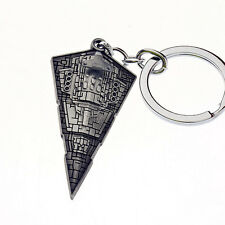 New Star Wars Movie Star Destroyer Silver Metal Keyring Keychain 002