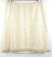 c15e2ce390 BANANA REPUBLIC Ivory Gold Eyelet Embroidered Career Pencil Skirt Petite  Size 2P