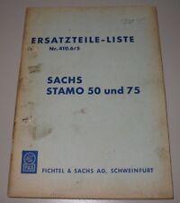 Ersatzteilliste Fichtel & Sachs Stamo 50 + 75 Nr. 410.6/5 Motor ET Katalog!