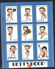 GUINEA - MNH 1998 BETTY BOOP IN SHEET OF 9 PLUS SOUVENIR SHEET