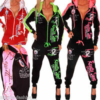 Damen Jogginganzug Jogging Jacke Hose Sportanzug Sporthose Fitness Pink XS-5XL