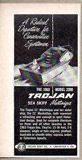 1963 Print Ad Trojan Model 2200 Sea Skiff Martinique 21' Boats Lancaster,PA