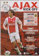 Programma / Programme Ajax Amsterdam v Roda JC Kerkrade 03-02-2010