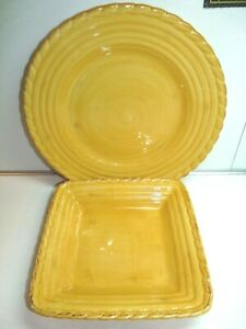 Artimino Tuscan Countryside Yellow Dinner Plate and Salad Plate