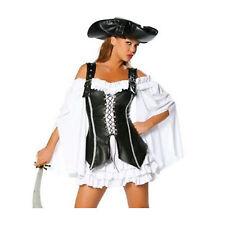 Femmes Luxe robin hood Pirate veste noir marion costume Adulte Déguisement