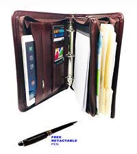 Men/Women 3 RING BINDER FOLDER PORTFOLIO ORGANIZER PLANNER & Briefcase Handle