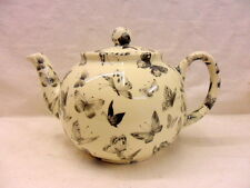Special offer Black butterfly design 6 cup teapot by Heron Cross Pottery