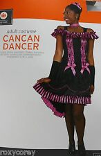 Halloween Adult Women's Cancan Dancer Costume Size Large 12-14 NWT