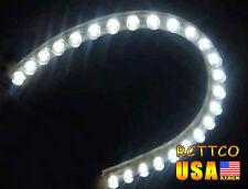 US Ship New Car Flexible Strip Light White Bulbs Lamps Waterproof 24cm 24LED