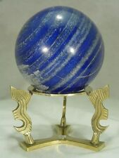 "BUTW Stunning Afghanistan 4.1"" AAA grade lapis lazuli sphere lapidary 7387D dl"