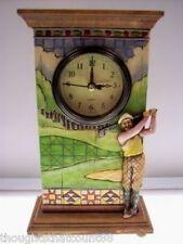 Jim Shore Clock Golfer 4005226 Nib *Great Men's Gift! * Free Usa Shipping
