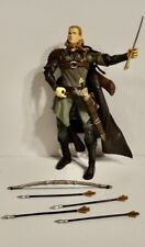 """Legolas 7"""" Action Figure Lord Of The Rings ToyBiz 2002 With Swords Bow Arrows"""