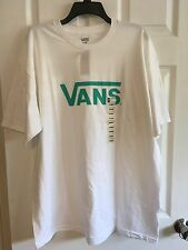 VANS Worldwide Men's XL WHITE  Short Sleeve T-shirt Skateboard Tee, NWT $24