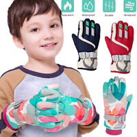 Winter Gloves Children Kids Boys Girls Snow Windproof Mittens Outdoor Sports Ski