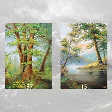 LOT #11 of 2 ACEO PRINTS  FINE ART LANDSCAPE  LAKE MOUNTAIN Forest Trees Water