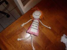 """TURMA DA bia plush yarn pink doll 13"""" proibida entrada de mae estressada"""
