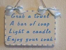 Decorativo handcrafted TARGA A Muro / Firmare prendi un asciugamano
