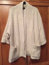 Super Chic Isabel Marant SZ 38/6 Cream Open Chunky Knit Jacket Sweater Coat