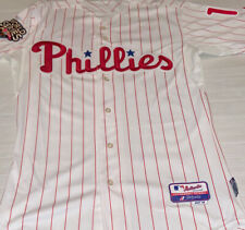 Men's Majestic Jimmy Rollins #11 2009 World Series Philadelphia Phillies Jersey
