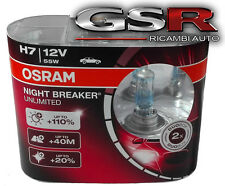COPPIA LAMPADE H7 OSRAM NIGHT BREAKER UNLIMITED 12V 55W 64210NBU + 110%