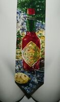 McIlhenny Tabasco Brand Pepper Sauce Men's Silk Necktie Tie Abstract Embossed