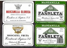 Etiquetas de Vinos Manzanilla de Argüeso en Sanlucar de Barrameda (CX-620)