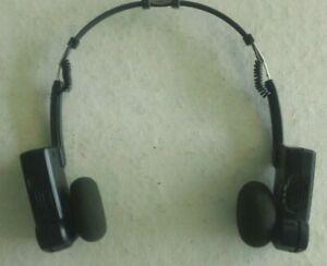 Vintage GE AM/FM Collapsible Stereo Headphones 7-1297A-Excellent Condition