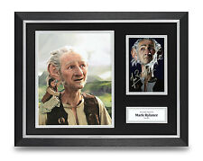 Mark Rylance Signed Photo Framed 16x12 The BFG Autograph Memorabila Display COA