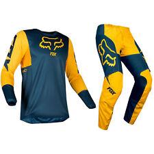 FOX RACING 180 MOTOCROSS MX KIT PANTS JERSEY - PRZM NAVY YELLOW