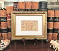 Framed Original 1878 Antique Map ARKANSAS Carrollton Helena Searcy Hot Springs