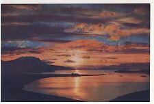 Old Postcard - Sunset Over Loch Kanaird & Ardmair Bay nr Ullapool- Unposted 0192