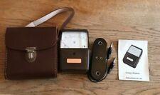 Vintage Gossen MINOHM  Lightmeter Handheld with Brown Leather Case instructions