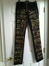 Chanel 11A NEW Paris-Byzance TWEED GOLD MULTICOLOR GRIPOIX Buttons Pants FR36$4K