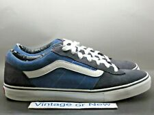 Men's VTG Vans La Cripta Dos Omar Hassan Navy Suede Canvas Skate Shoes sz 14