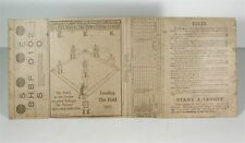 1910 KELLOGGS CORN FLAKES BOX WITH FIRST SPORTS SUBJECT - BASEBALL BOARD GAME