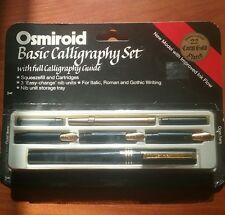 Rare Vintage Osmiroid Calligraphy Set - Antique Fountain Pens - 22K Gold Plated
