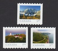 2020 = FAR AND WIDE = SET OF 3 HV COIL STAMPS MNH Canada