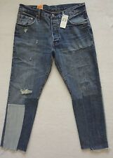 Levis 501 Jeans Womens Size 31x27 Ragged Lands Button Fly Skinny Denim