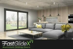 !NEW Large span Aluminium sliding doors,made to order,Fastglide x71,patio