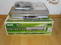 JVC DR-MV1 DVD-Recorder / VHS-Videorecorder, OVP, inkl. FB&BDA, 2 Jahre Garantie