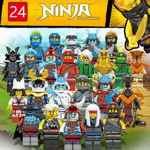 New 24 Pcs Ninjago Mini Figures Kai Jay Zane Char Akita Building Blocks Toys Set