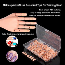 Flexible False Nails Fake Nails Manicure Practice Replacement Nail Tips