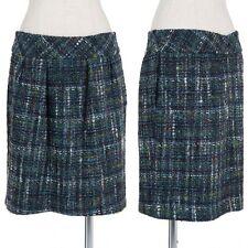 (SALE) Sinequanone alpaca blend colorful tweed skirt Size 38(K-24636)